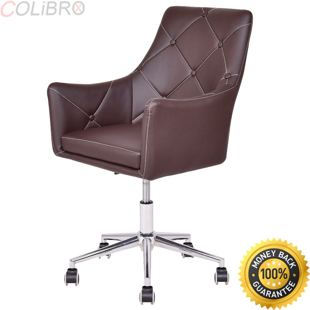 COLIBROX--Set of 2 Home Office Task Chair PU Leather Swivel Adjustable Tufted Back Rolling. desk chair walmart. desk chair amazon. comfortable desk chair. ergonomic desk chairs. best office chairs.