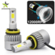 Super Bright S2 Cob 12 Volt 24 Volt High Power 9005 9007 H13 H3 H1 H11 H4 Led Car Headlight Bulb H7