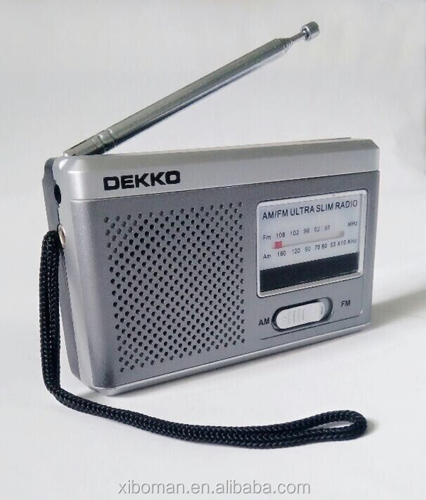 Battery Operated Pocket Radio Manual Tuning type 2-Band Receiver Radio (sliver)