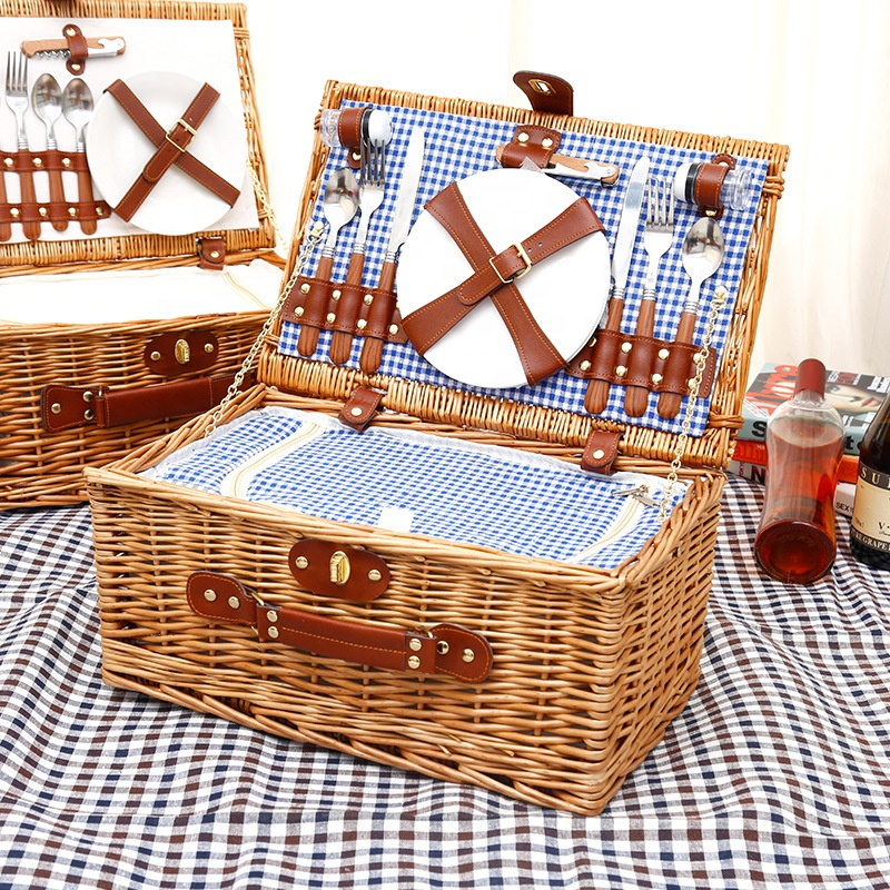 good quality wholesale insulated picnic basket wicker in stock with fast dispatch