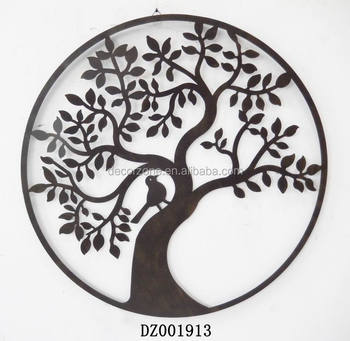 Hot Sale Round Tree Metal Wall Art Decor With Beautiful Design Buy
