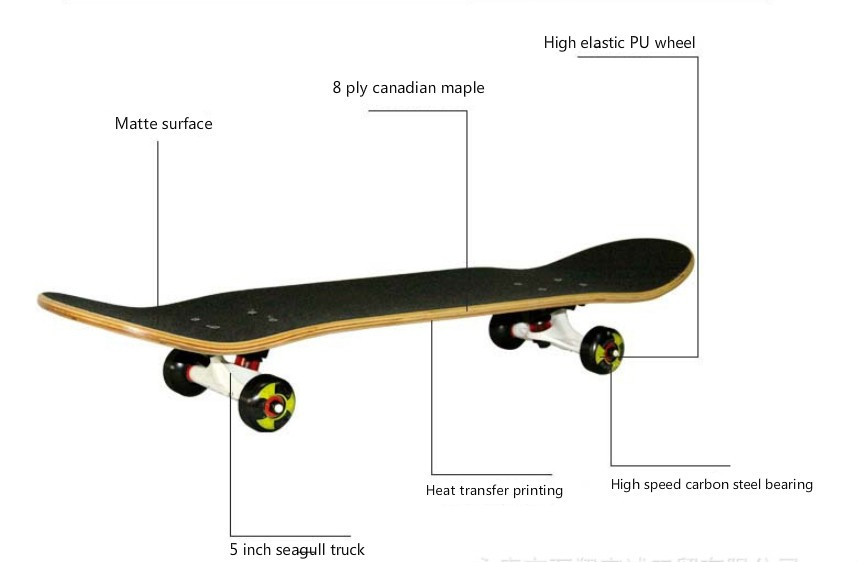 BIGBANG oem custom graphics wood chinese maple skateboard wholesale