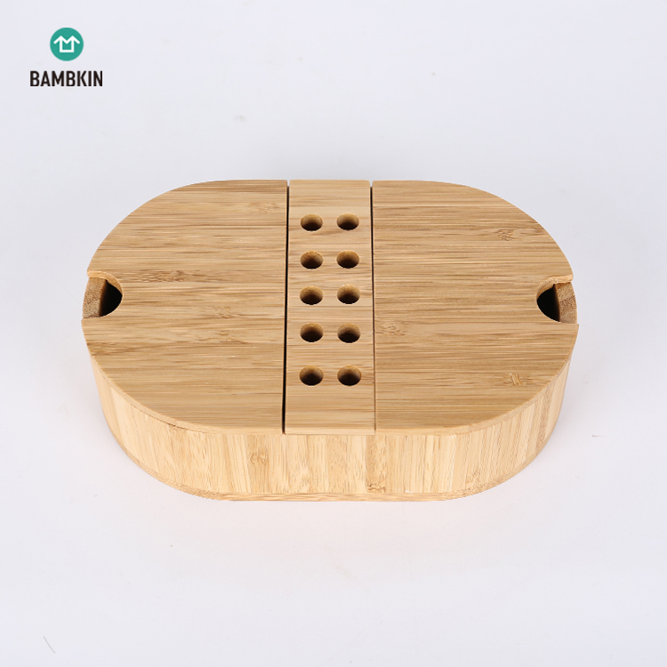 bamboo storage box /Stool box with lid