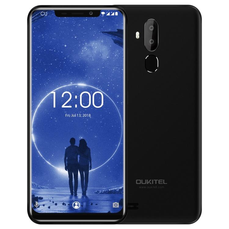 New Product OUKITEL C12, 2GB+16GB Dual Back Cameras, Face ID & Fingerprint Identification, 6.18 inch U-notch Screen phone