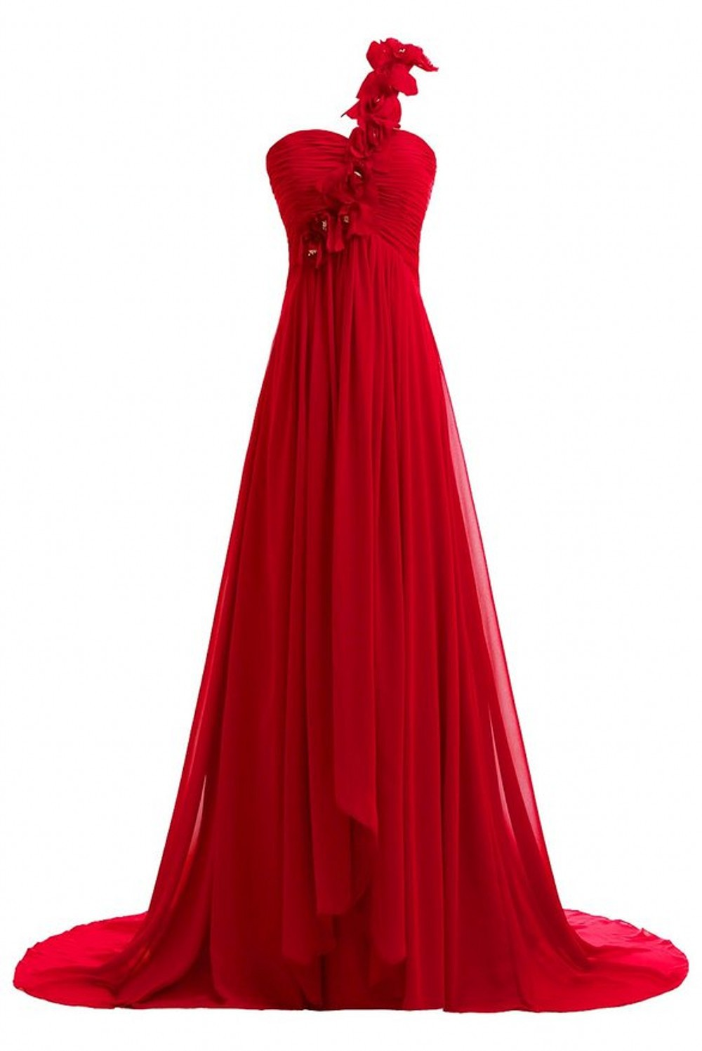 ae598933ed 2015 New Fashion Elegant Long Prom Dress One Shoulder With Lace Appliqued  Red Women Fashion Party Dresses