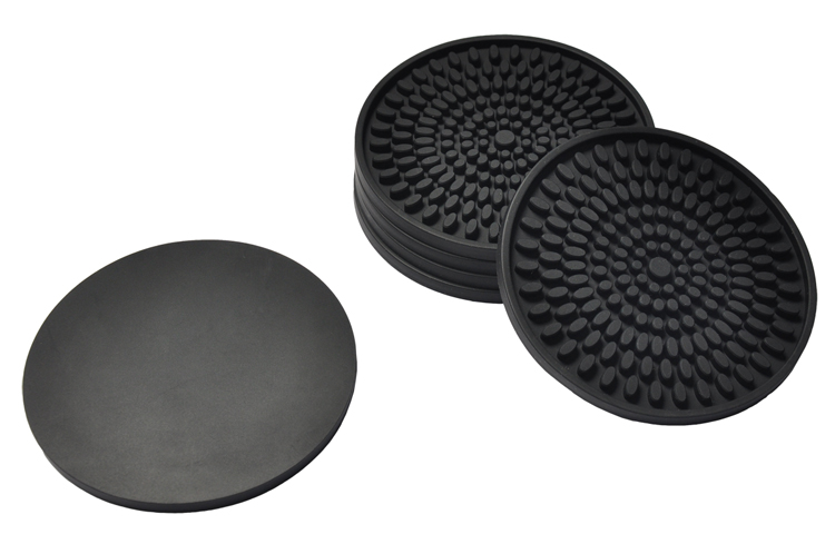 RENJIA furniture coaster glass table rubber pad embossed silicon coasters