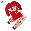 kids Clothing Set hoody Pants two pieces boys girls autumn winter Mickey cartoon red cotton casual
