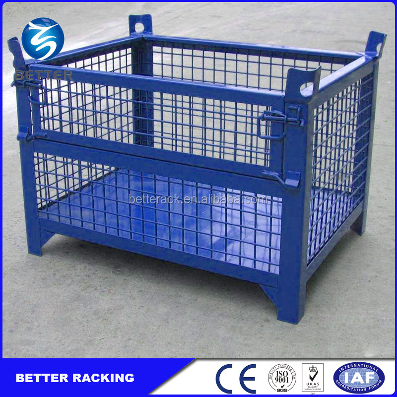 Heavy Duty Stacking Steel Box Storage and Transport Steel Cage Container