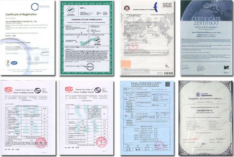 CE 인증 upvc 플라스틱 PVC 중공 프로파일 중국산