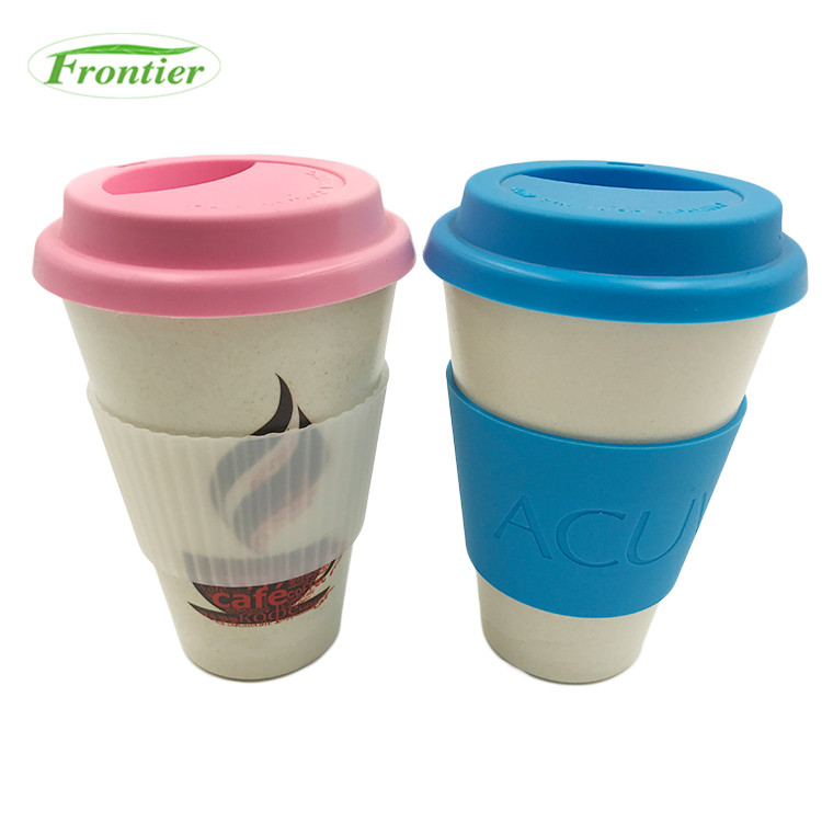 New Hot Selling Item Non-slip Bamboo Coffee Cups Lids Reusabl