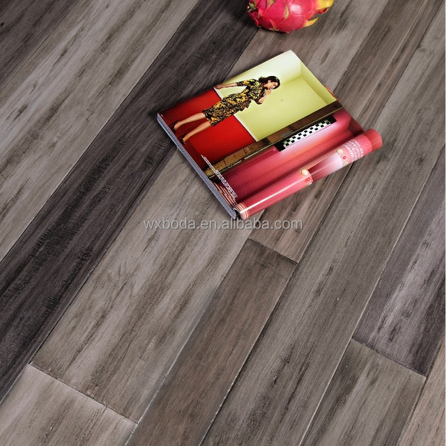 genius -hand scraped strand woven bamboo flooring-popular color