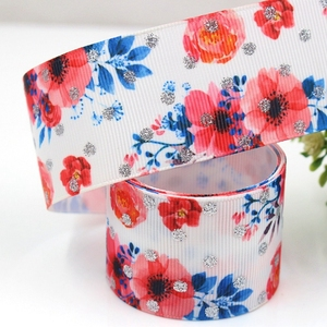 Rose Printed Wedding Gift box Packing ribbon