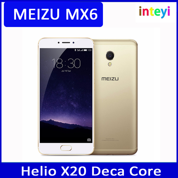 "Original Meizu MX6 MX 6 Mobile Phone MTK Helio X20 Deca Core 5.5"" 3GB RAM 32GB ROM IMX386 1920x1080 12MP Camera"