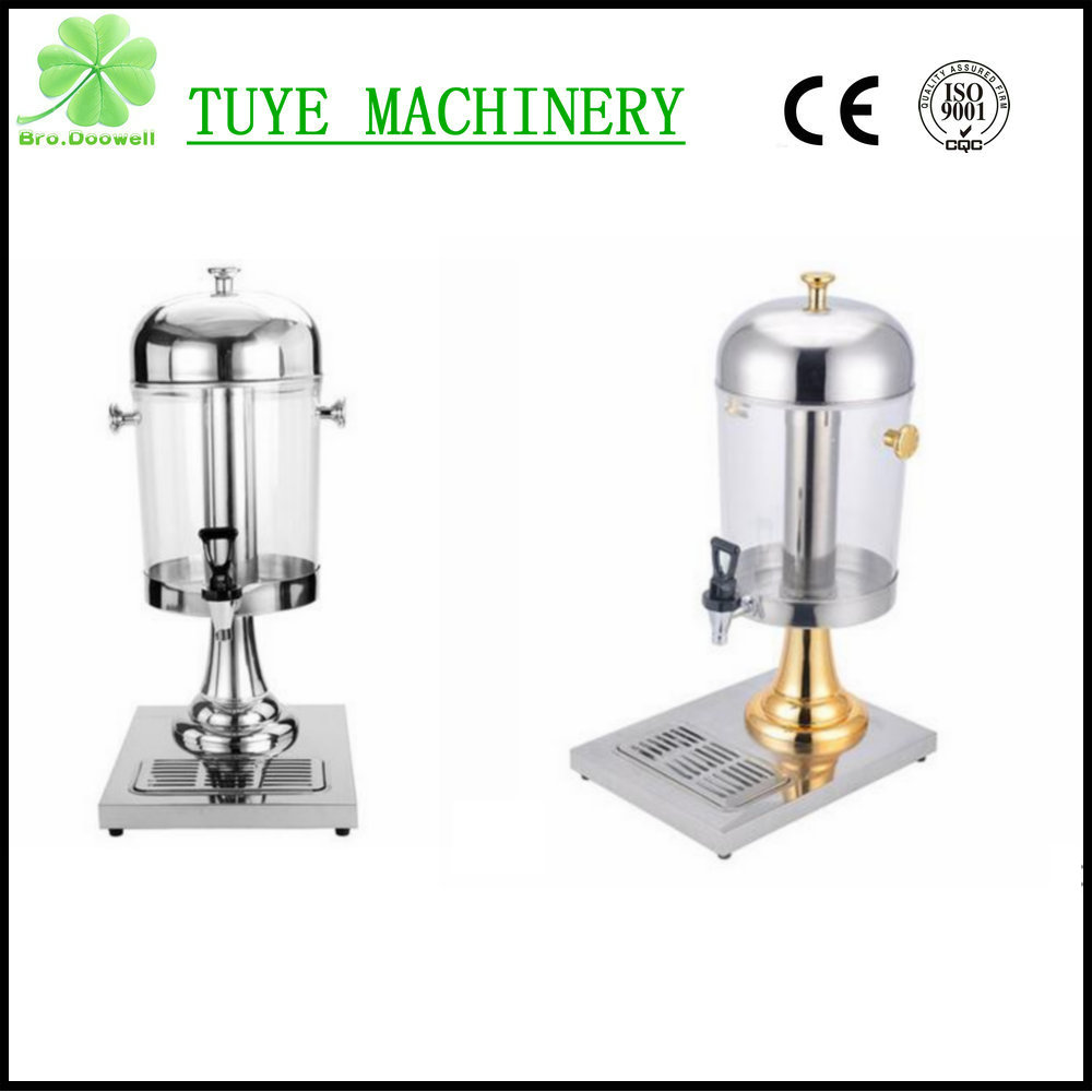 Stainless Steel Buffet Refrigerated Beverage Dispenser Hotel Restaurant Juice Dispenser