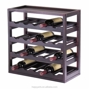 Wooden Modular Kitchen Table Wine Storage Cube Bottle Holder Display Rack