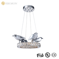 Wholesale Price Living Room Luxury Drum Flat Chrome Stainless Steel Lighting Crystal Chandelier