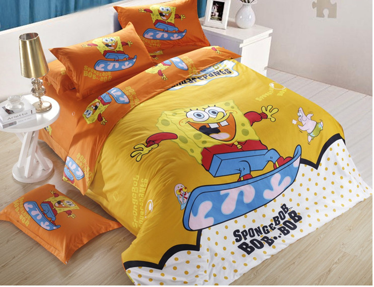 Spongebob Reactive Print 3D Bedding Set / Quilt Cover Bed Sheet 3D Bedding  Set