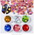 2018 6 Color Smiling Face Dazzling Nail Sticker Colorful Nail Art Decoration