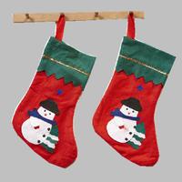 plush santa clause gift socks with snowman image / christmas santa sock for decoration