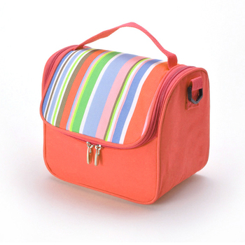 Promotional Picnic Thermal Lunch Freezer Bag For Travel Polyester Insulated Food Wine Can Beer Cooler