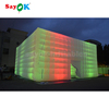 Led lighting giant inflatable cube tent,the inflatable trade show event tent for sale