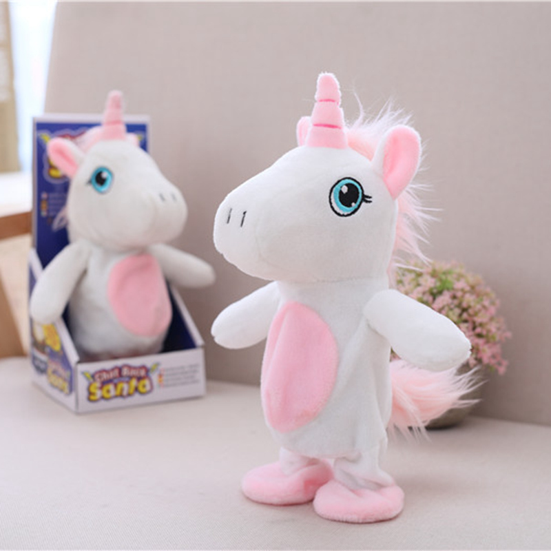 Hot Sell Electric Plush Unicorn Toy Talking And Moving