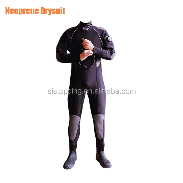5mm CR Neoprene Drysuit with Si-tech Valves Diving drysuit for keeping warm