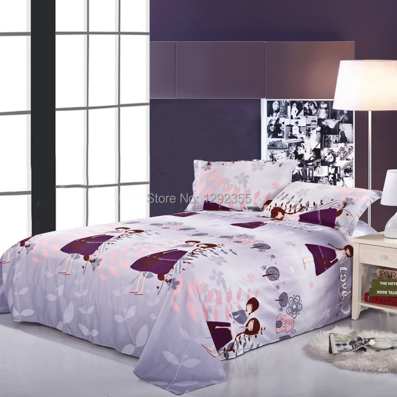 2014 fashional pink and light grey sweetheart design bed sets duvet cover bed sheet. Black Bedroom Furniture Sets. Home Design Ideas