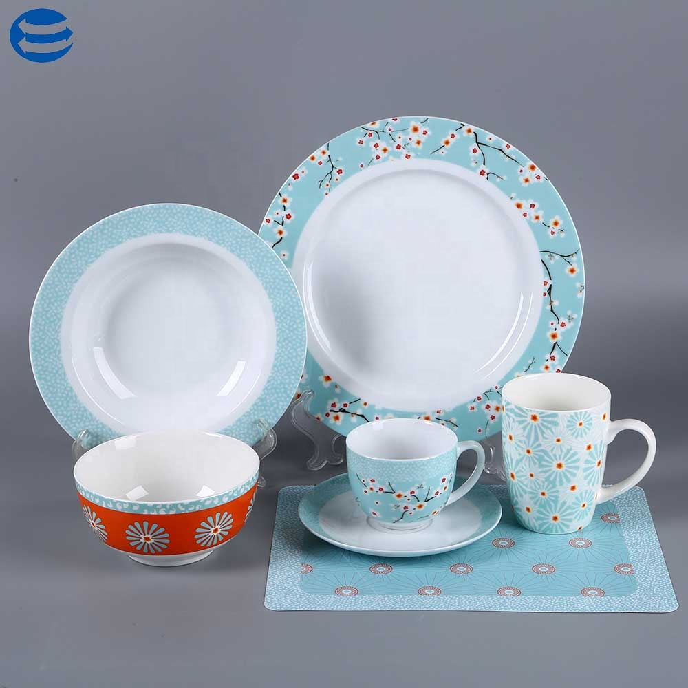 Stoviglie in porcellana set di stile Europeo set di cena piatti di ceramica e ciotola di porcellana bone tablewere