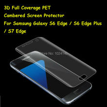 New 3D Curved Cambered Full Coverage Soft PET Film Screen Protector For Samsung Galaxy S6 S7 Edge Plus (Not Tempered Glass)