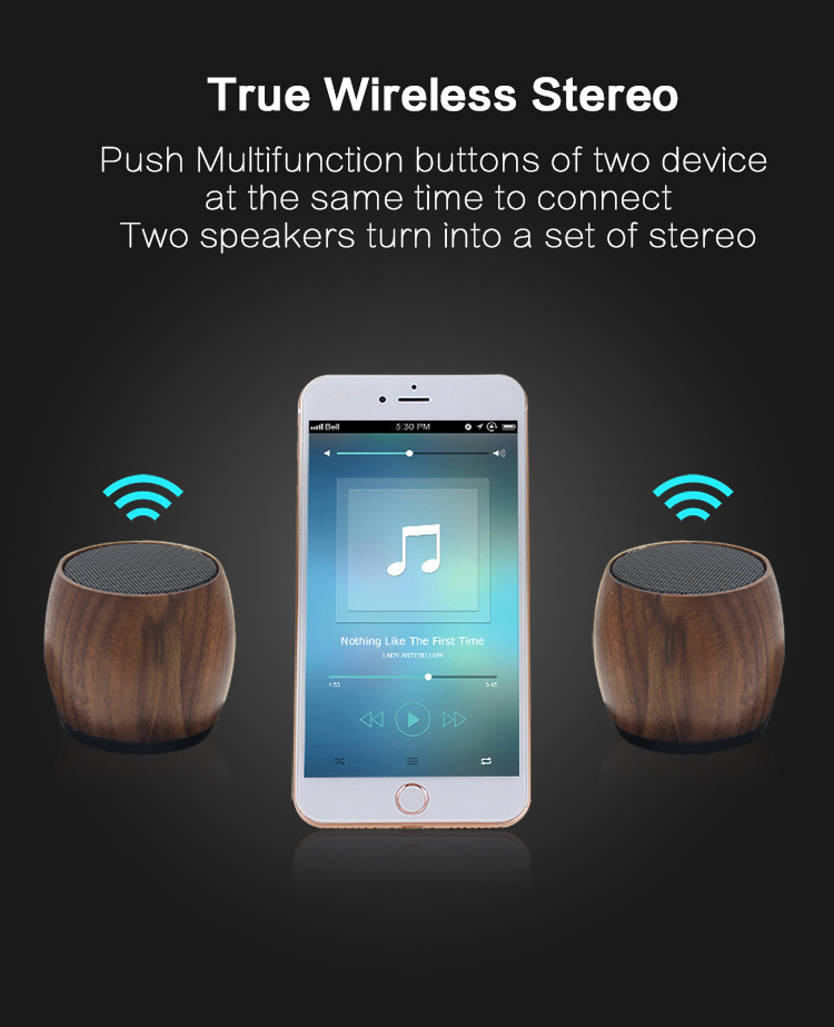 Latest Multi Functional Mini Wooden Wireless bt Speaker With Charging Dock