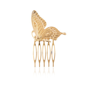 New Wholesale Small Metal Butterfly Hair Comb