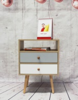 Custom cheap Wooden modern nightstand small bedside table