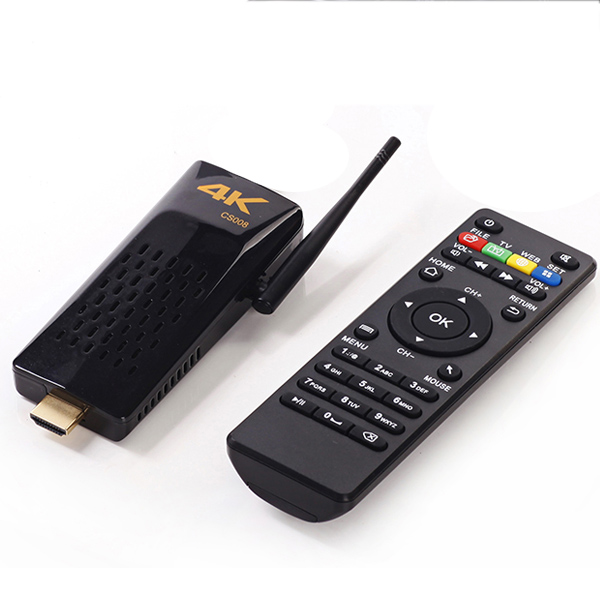 B2GO Android <strong>TV</strong> <strong>Box</strong> CS008 Quad Core Mini PC RK3288 2GB+8GB Built-in Bluetooth/RJ45 Port Support DLNA/Miracast/4K +Remote