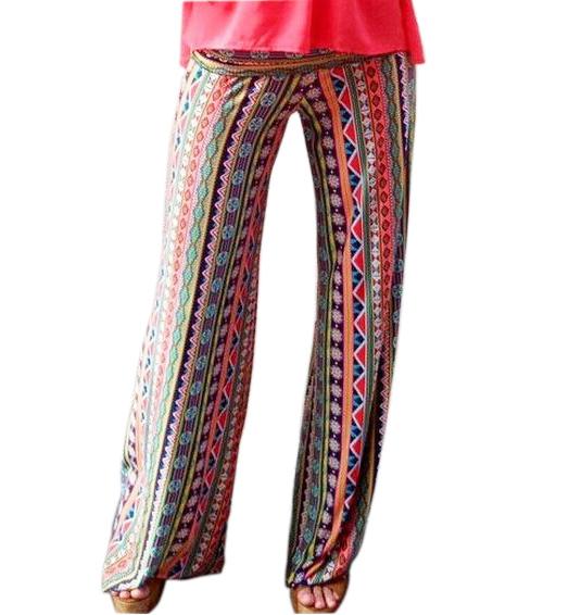 Striped Hippie Harem Pants - Casual Unisex Cotton Lounge ... |Hippie Striped Pants