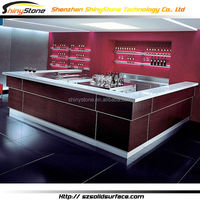 STBC-008 U-shaped luxury wooden bar counter made in china