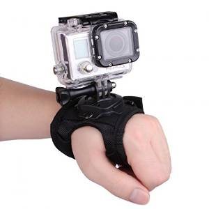OBOSS 360 Degree Rotation Glove-style Band Mount Palm Strap Accessories for GoPro Hero 4/3+/3/2/1 Camera