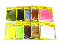 HENGJIA 50pcs/bag T tail bass lure soft worm bait fishing lure