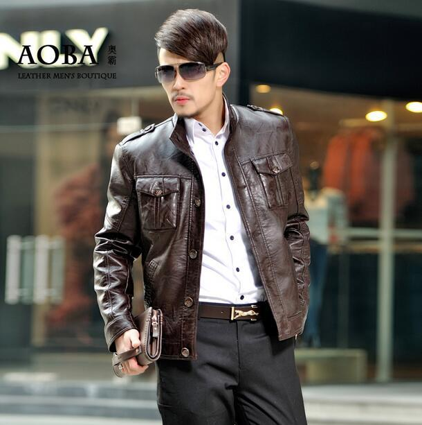 809b9579aa4666 Black brown man single-breasted leather jacket men trench coats mens jackets  jaqueta de couro