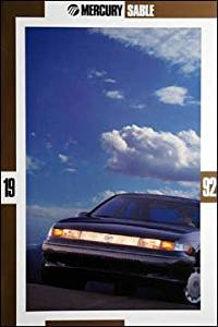 1992 MERCURY SABLE PRESTIGE COLOR SALES BROCHURE - 7-91 P-1101 - HUUUUGE !! EXCELLENT - USA !!