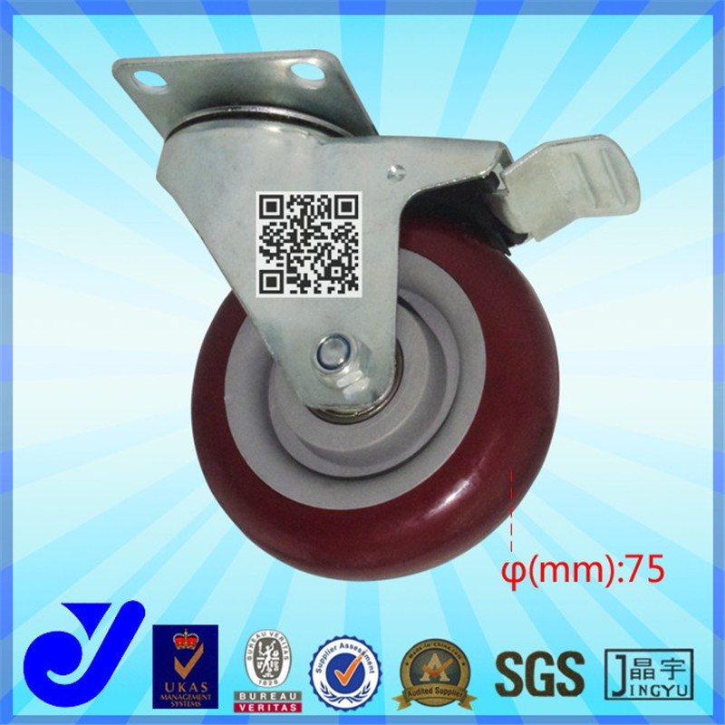 JY-303| Hard rubber caster wheel | Industrial trolley wheels | Casters for office chair