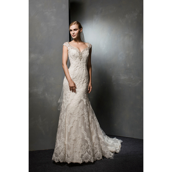 47123f783a1 Latest Designs Cap Sleeve Beaded Body long Bridal Gowns Lace Appliqued Mermaid  bridesmaid Wedding Dress