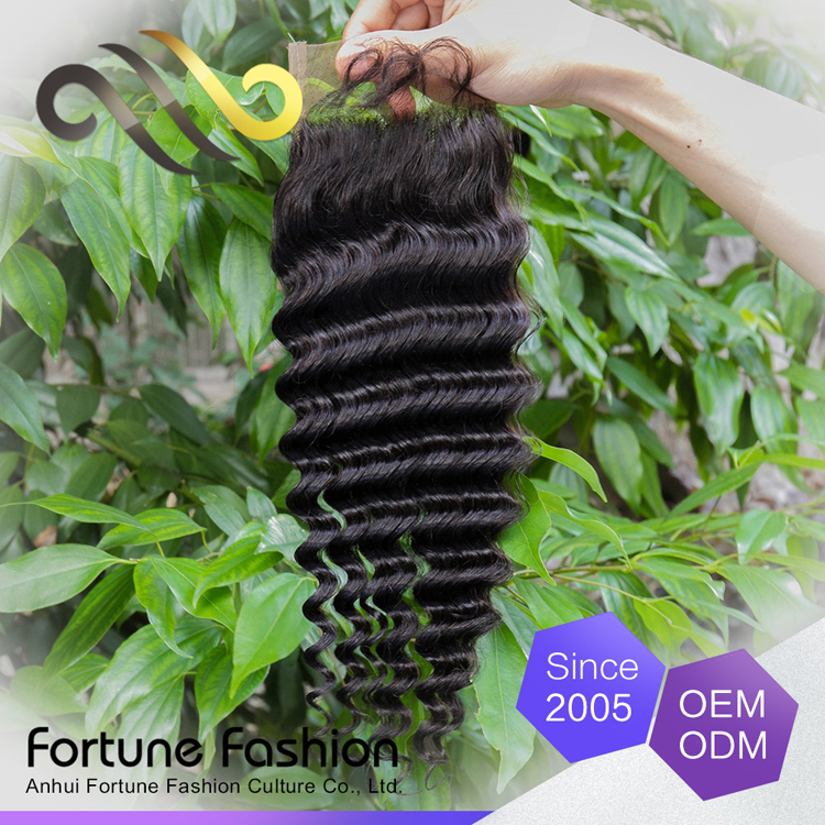 Online Get Cheap Lace Frontal Closure 4x4 Deep Wave Hairstyle Can Be Dyed Human Hair Made Closure Swiss Hair Pieces