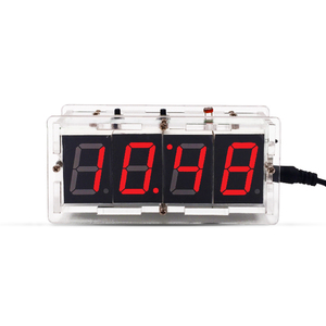 4 Bits Digital Tube DIY kit LED electronic clock microcontroller LED digital Multi-Function Light Control clock time suite
