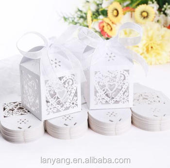 Luxury Wedding Anniversary Party Laser Cut Cake Favour Gift Box