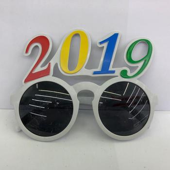 2019 number glasses new years colorful neon party glasses
