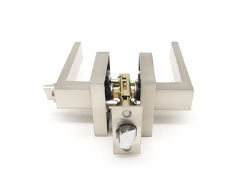 Residential Leverset indoor lock,zinc alloy handle, brushed satin nickel finish for wooden door