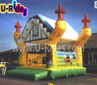 Mini Inflatable jumping bouncy castle toys children bouncing house air bounce house for kids