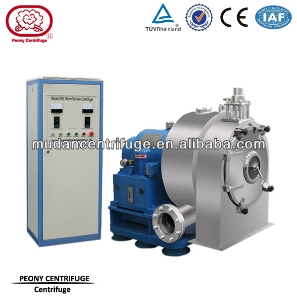 Model LLW Automatic Continuous Worm Centrifuge for Solid-Liquid Separation of Chemical Industry