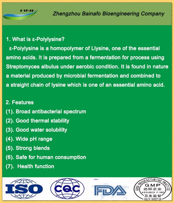 Food Preservatives Polylysine for White Sauce